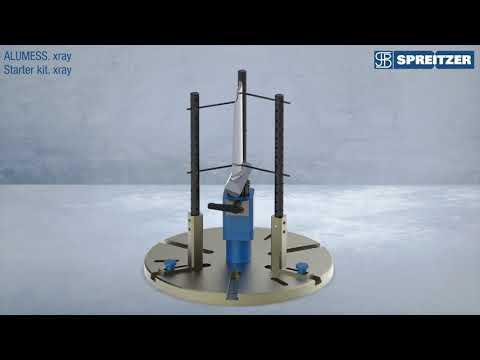 ALUMESS.xray Spannvorrichtung für die Röntgenmesstechnik