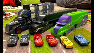 New Disney Cars 3 Haulers - GUESS Which Is The FAKE Disney Cars Next Gen Hauler ? KNOCK OFF Toys