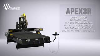 APEX3R CNC Router Cutting .75″ Cherry Wood (Flip-To-Cut)
