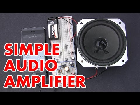 How to make an LM386 audio amplifier circuit (HD)