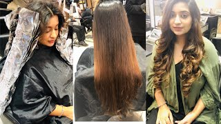 My Hair Color Transformation | Long Layer Hair Cut & Color