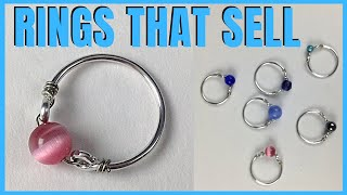 Simple Wire Rings To Make And Sell Easy DIY Tutorial
