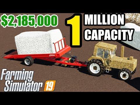 Farming Simulator 19 | +1 MILLION CAPACITY COTTON BALE !!! ONE BALE