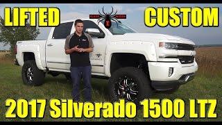 LIFTED 2017 Chevrolet Silverado 1500 LTZ! Startup, Exhaust, Walkaround - Black Widow Custom Upfit!