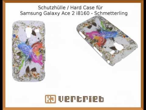 Schutzhülle / Hard Case für Samsung Galaxy Ace 2 i8160 - Schmetterling
