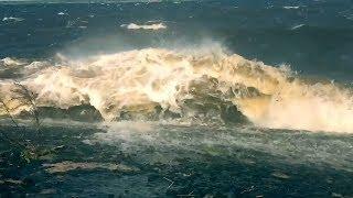 Ураган на Рыбинском водохранилище