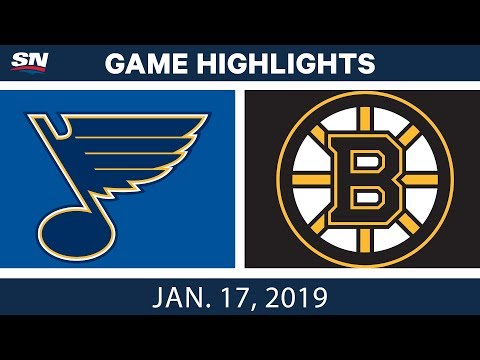 NHL Highlights | Blues vs. Bruins - Jan. 17, 2019