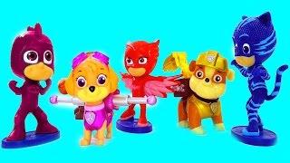 Disney Junior PJ Masks Color Cooties PAW Patrol Finger Family Toys Nursery Rhymes