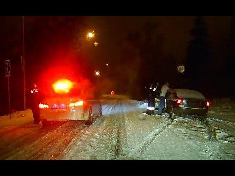 Задержание пьяного за рулем Volvo