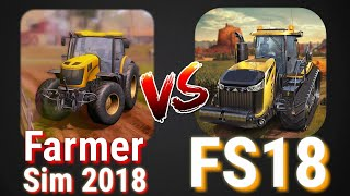 Farmer Sim 2018 vs Farming Simulator 18 Comparison (Android/ios) | CHOUDHARY GAMER |