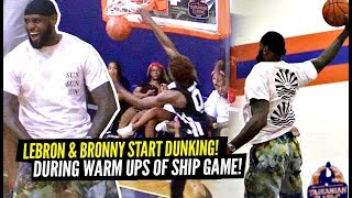 LeBron James STARTS DUNKING During Bronny's Game! Bronny TAKES OVER Championship Game!!