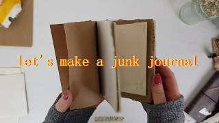 how to make a junk journal / easy tutorial for beginners!