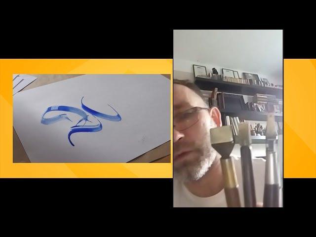 Человек с красивым почерком