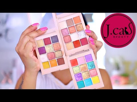 NEW DRUGSTORE  EYESHADOW PALETTE! | J.CAT BEAUTY POCKET SHADOW