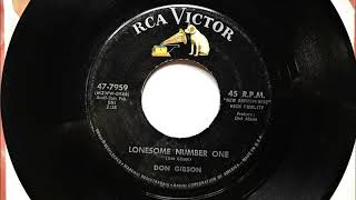 Lonesome Number One , Don Gibson , 1961