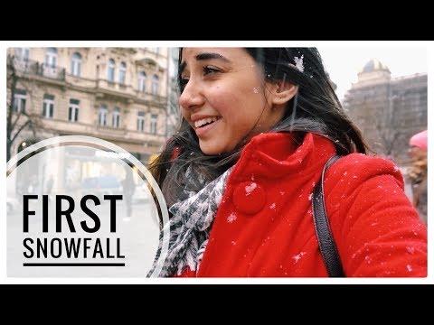 My First SnowFall! | Prague Vlog #1 | MostlySane