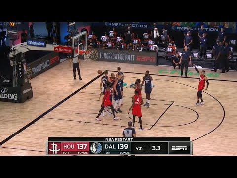 Robert Covington Putback To Tie Game Rockets vs Mavericks Game Highlights NBA New
