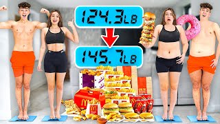 Who can GAIN the MOST WEIGHT in 1 Hour - Challenge