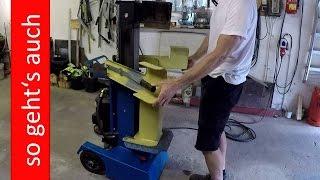 Holzspalter Scheppach Ox 2 Ölwechsel und Testlauf; Wood Splitter maintenance oil change and test run