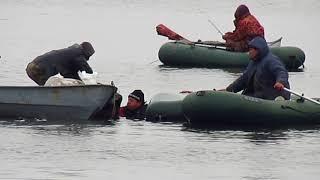 Происшествие на рыбалке 07 12 2017  Рыбалка по никопольски  Безразличие и взаимовыручка