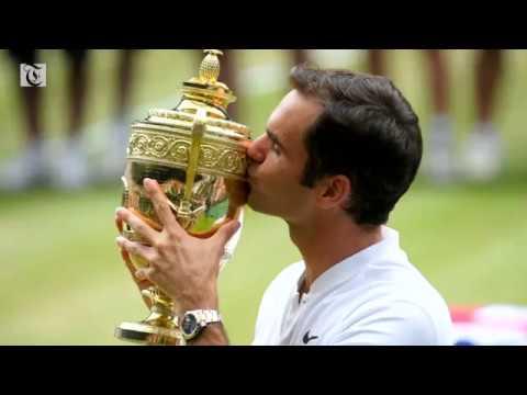 Federer wins his eighth Wimbledon title