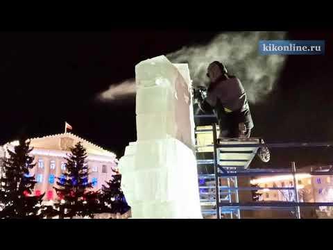 Новогоднее освещение центральной площади Кургана