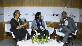 Dr. Alexandre Kalache com Inês Rioto & Aurea Barroso