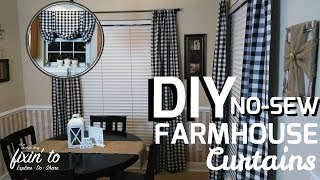 DIY Curtains | No Sew Curtains | Farmhouse Curtain Tutorial