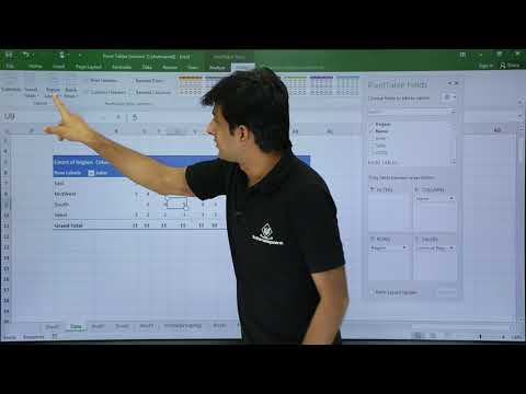 MS Excel - Pivot Table Example 1 Video Tutorials