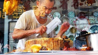 Most busy Knife Grandpa thin duck pork food / Macau street food / 가장바쁜 칼치는 할아버지