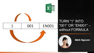 """Excel Format Numbers: How to turn """"1"""" into """"001"""" or """"EN001"""" - No Formula needed"""