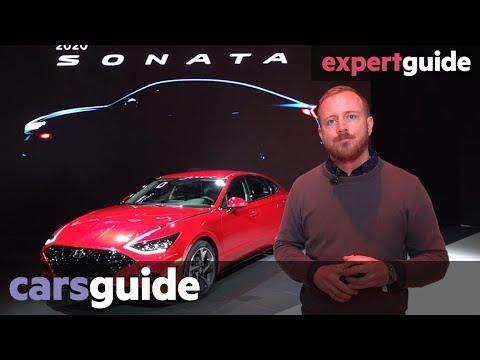 Hyundai Sonata 2020 up close at the 2019 New York motor show