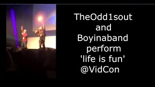 TheOdd1sOut and Boyinaband perform 'life is fun' at VidCon London 2019! (full video) ((from crowd))