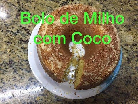 Como Fazer Bolo de Milho com Fubá e Coco/Delicia de Bolo