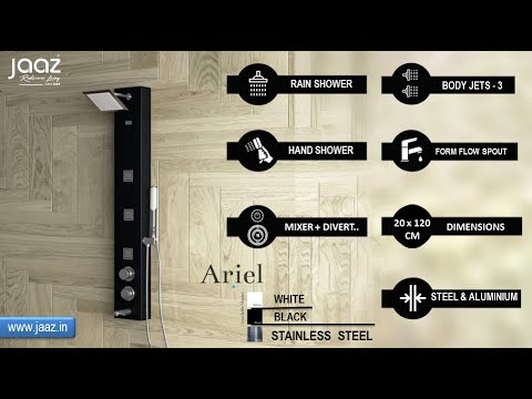 ARIEL Black Shower Panel