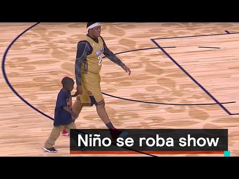 Niño se roba show en partido de baloncesto - Al Aire con Paola