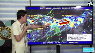 Pagasa 5 p.m. weather update: Tropical Depression