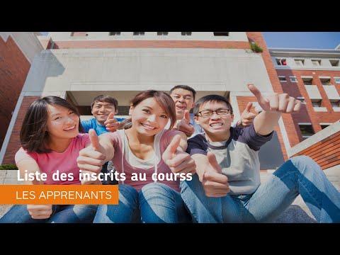 Naviguer dans Environnement d'apprentissage de Brightspace - Liste des inscrits au courss