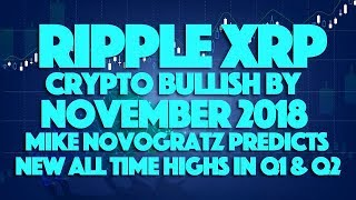 Ripple XRP: Crypto Bullish By November 2018. Mike Novogratz Predicts New All Time Highs In Q1 & Q2