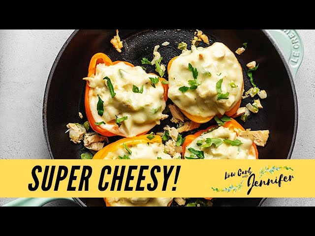 Chicken Philly Cheesesteak Stuffed Peppers