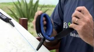 Surfboard leash tutorial