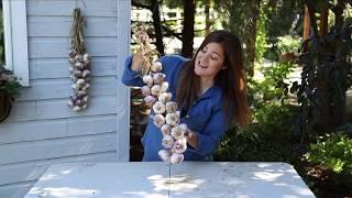 How To Braid Garlic 🌿