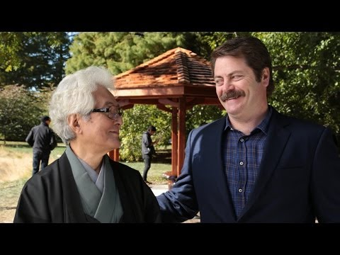 TIL Nick Offerman built a Japanese style gazebo in tribute to one of his old professors on the campus of the University of Illinois