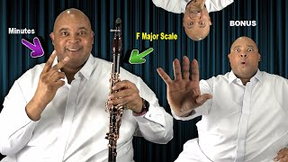 How To Play F Major Scale on Clarinet in 2 Minutes