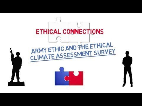 Ethical Connections: Army Ethic and the Ethical Climate Assessment Survey Screenshot