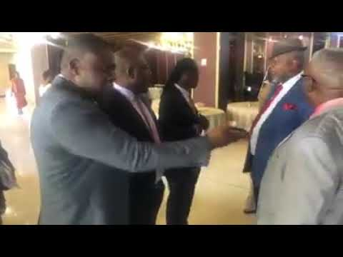 MDC VP Mudzuri secretly joins Mnangagwa meeting… confronted by party officials – VIDEO