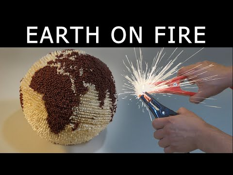 EARTH in FLAME - Burned INSIDE OUT with ELECTRICAL trigger. Chain reaction, implosion