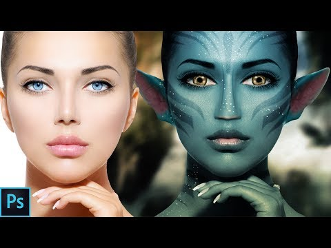 how to make avatar effect on face photoshop tutorial