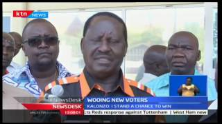Raila is asking IEBC to clean up its ICT department claiming it was messing up the voters register