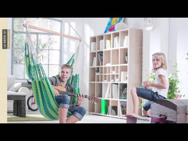 Видео Кресла-гамаки La Siesta Carolina подвесные spring